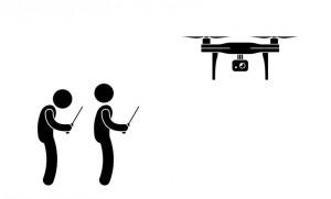 equipo de 2 filmación aerea