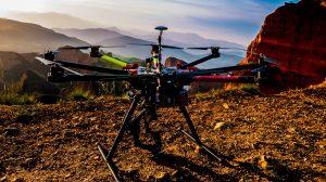 video aereo con drones